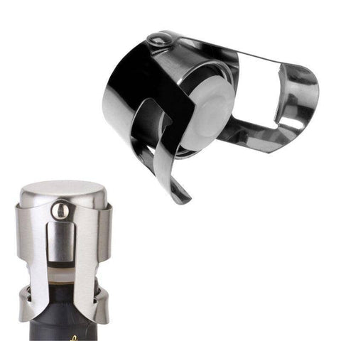 Image of Stainless Steel Sparkling Wine Bottle Stopper Kitchen Gadgets shopgadgetmonkey