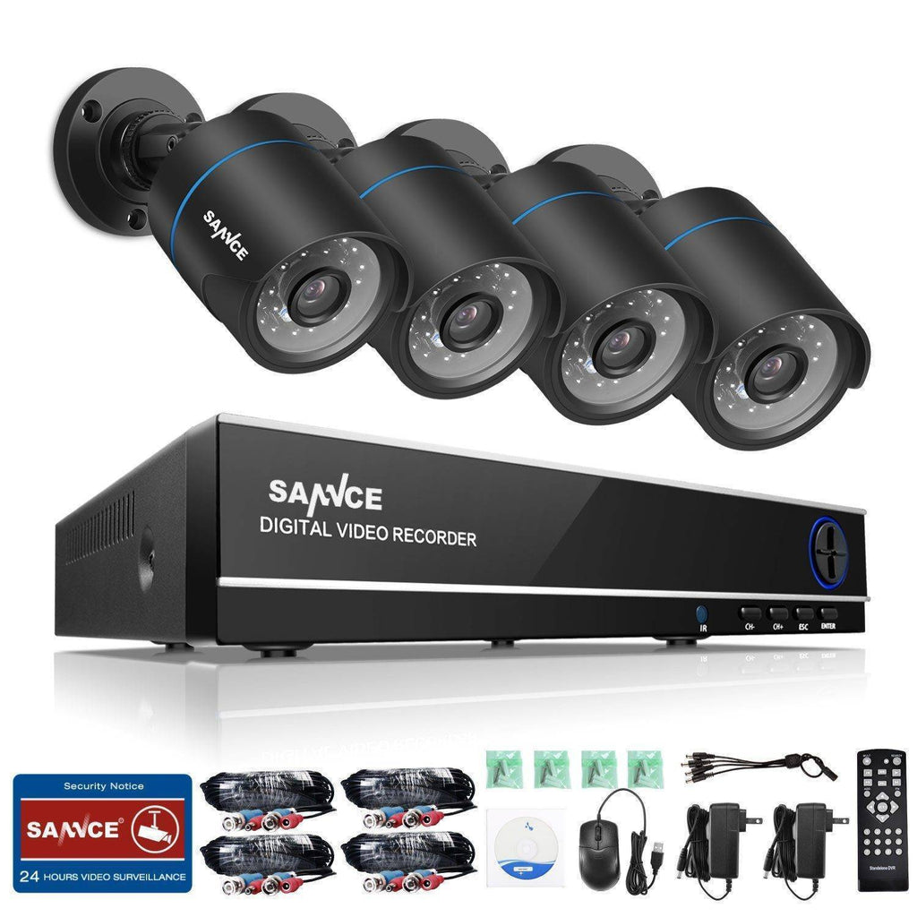 4 Channel Home Video Security Cameras System with Night Vision Home & Garden Gadget Monkey No Hard Drive
