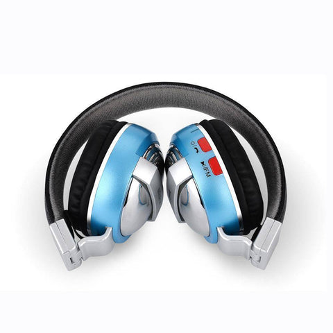 Bluetooth Over Ear Headphones With Microphone Tech Accessories shopgadgetmonkey Blue