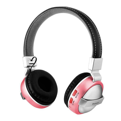 Bluetooth Over Ear Headphones With Microphone Tech Accessories shopgadgetmonkey Pink
