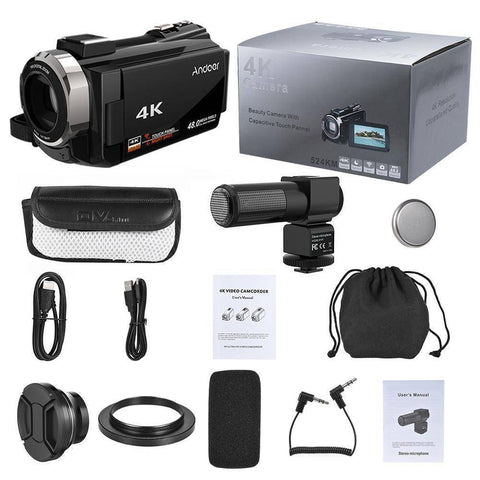 4K 1080P 48MP WiFi Digital Video Camera Tech Accessories Gadget Monkey