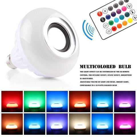 Image of Wireless Bluetooth Music Bulb Light Loudspeaker - 12w LED Speaker Color-changing Home & Garden Gadget Monkey