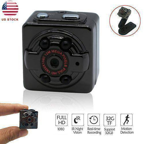 Mini Hidden Video Camera Portable Video Recorder HD 1080P Tech Accessories Gadget Monkey