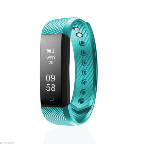 Image of Bluetooth Smart Bracelet the Fitness Tracker Heart Rate Monitor Health & Beauty shopgadgetmonkey Teal