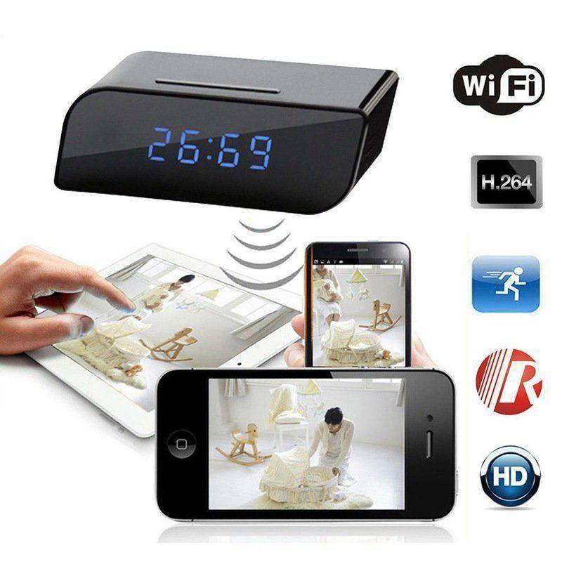 Bedside Clock Video camera with Night Vision and Motion Detection Tech Accessories shopgadgetmonkey