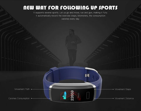 Fitness Tracker With Heart Rate Monitor - Waterproof Smart Wristband With Color Screen Tech Accessories Gadget Monkey