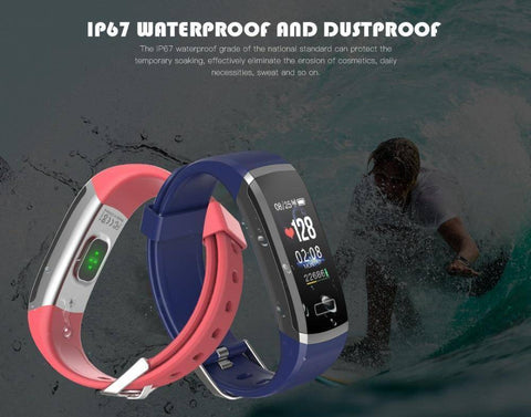 Image of Fitness Tracker With Heart Rate Monitor - Waterproof Smart Wristband With Color Screen Tech Accessories Gadget Monkey
