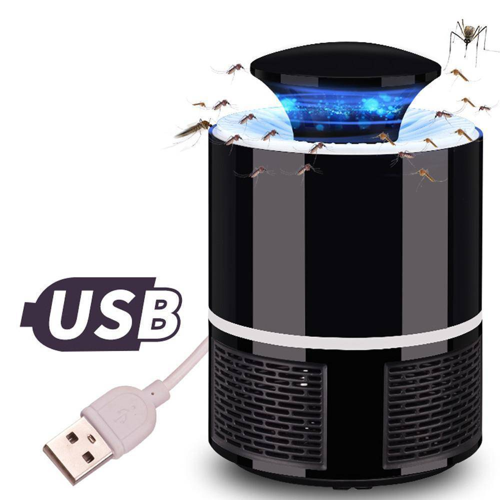 USB Mosquito Killer Lamp Trap - Repellent Home & Garden Gadget Monkey Black