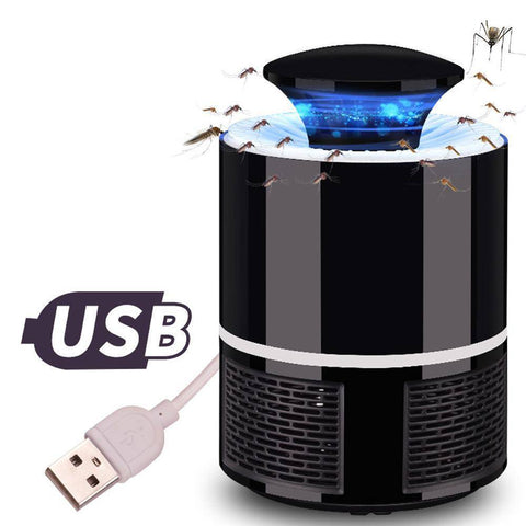 Image of USB Mosquito Killer Lamp Trap - Repellent Home & Garden Gadget Monkey Black