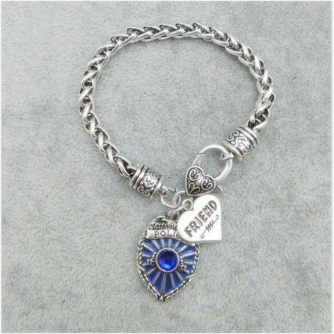 Image of Police Badge Charm Bracelet - First Responder Jewelry & Watches Gadget Monkey