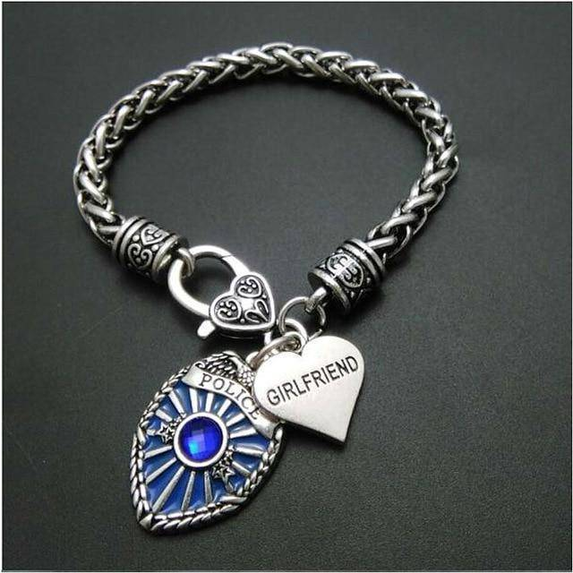 Police Badge Charm Bracelet - First Responder Jewelry & Watches Gadget Monkey Girlfriend