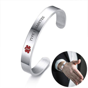 Diabetic Medical Alert Bracelet - Stainless Steel - Type 1 and Type 2 Diabetes Health & Beauty Gadget Monkey