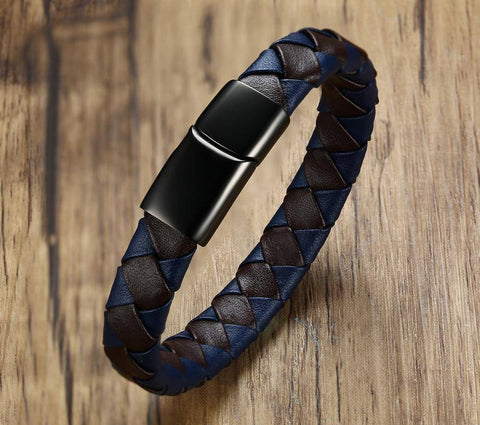 Image of Men's Diabetic Medical Alert Bracelet - Genuine Leather for Diabetes Type 1 and Diabetes Type 2 Health & Beauty Gadget Monkey