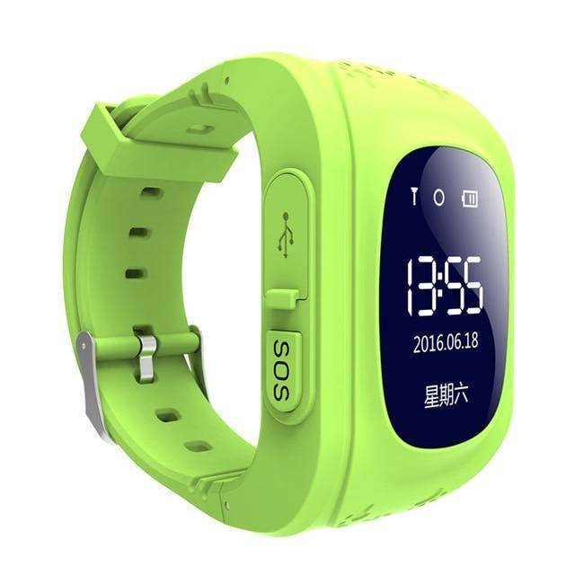 Kids GPS Tracker Smartwatch Tech Accessories Gadget Monkey Green