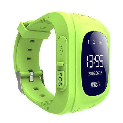 Image of Kids GPS Tracker Smartwatch Tech Accessories Gadget Monkey Green