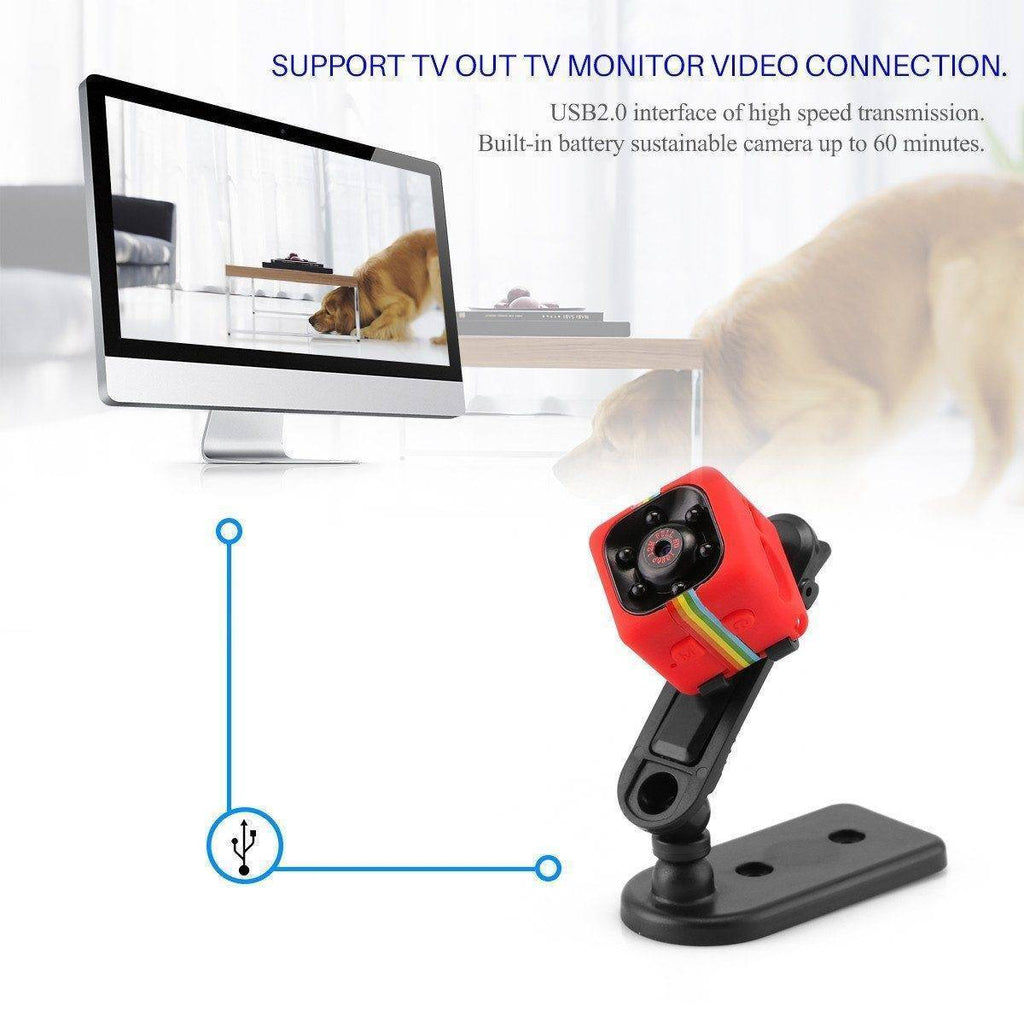 HD 1080P Mini Hidden Camera with Night Vision and Motion Detection Tech Accessories Gadget Monkey
