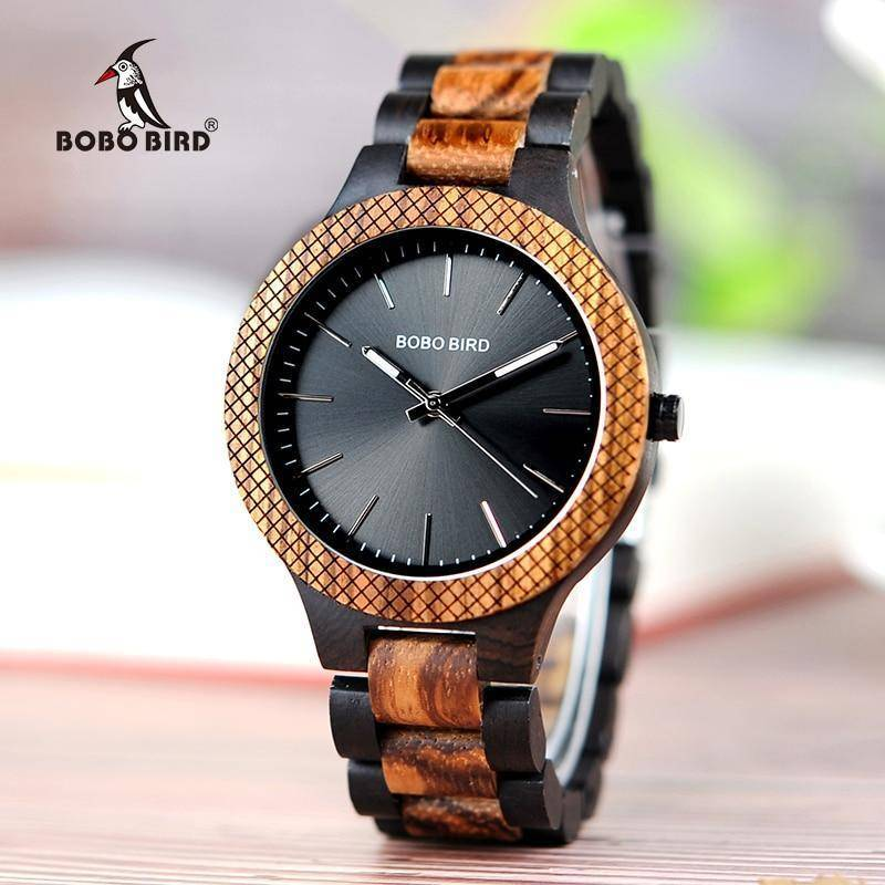 Wood Watch Quartz Mens Watches with Luminous Hands in Wooden Gift Box Jewelry & Watches Gadget Monkey