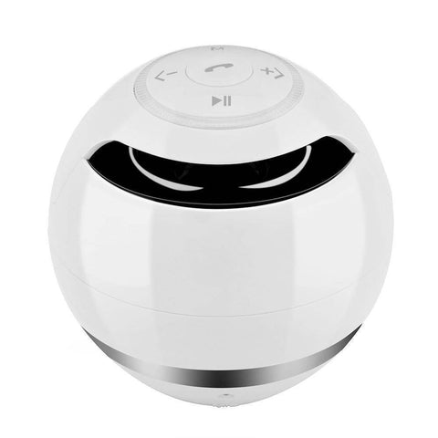 Portable Wireless Bluetooth Speaker Ball Tech Accessories shopgadgetmonkey white