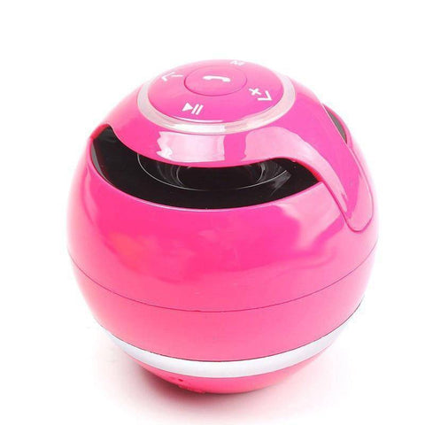 Image of Portable Wireless Bluetooth Speaker Ball Tech Accessories shopgadgetmonkey pink