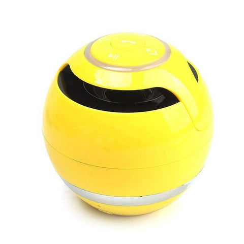 Image of Portable Wireless Bluetooth Speaker Ball Tech Accessories shopgadgetmonkey yellow