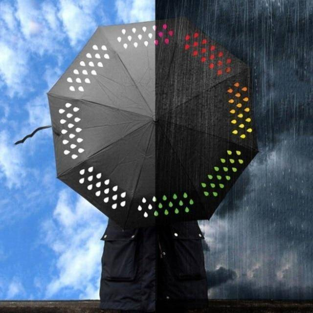 Tri-fold Magical Color Changing Umbrella Tech Accessories Gadget Monkey Default Title