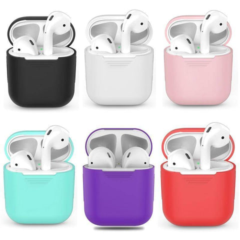 Image of Silicone Apple Airpod Case Protective Cover Accessories Charging Box Tech Accessories Gadget Monkey