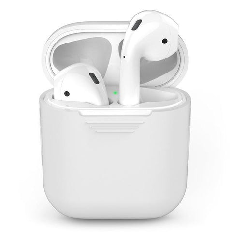 Image of Silicone Apple Airpod Case Protective Cover Accessories Charging Box Tech Accessories Gadget Monkey White