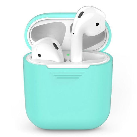 Image of Silicone Apple Airpod Case Protective Cover Accessories Charging Box Tech Accessories Gadget Monkey Green