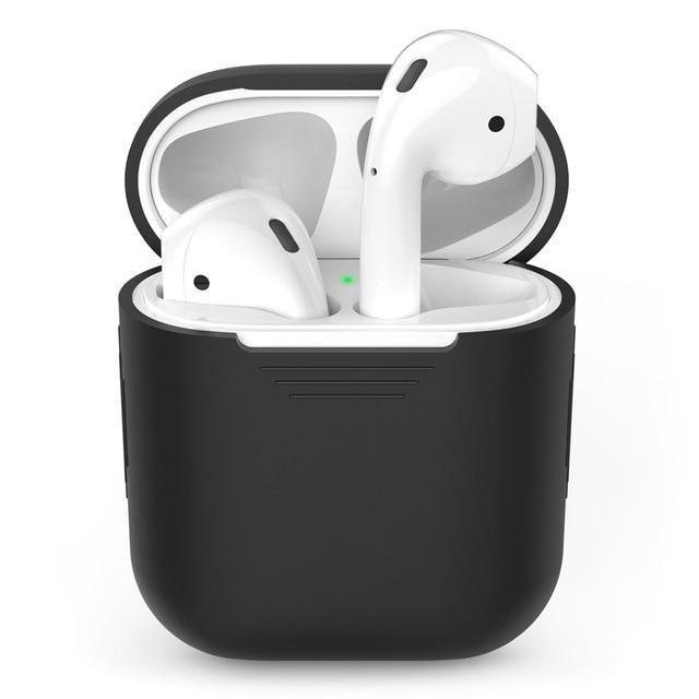 Silicone Apple Airpod Case Protective Cover Accessories Charging Box Tech Accessories Gadget Monkey Black