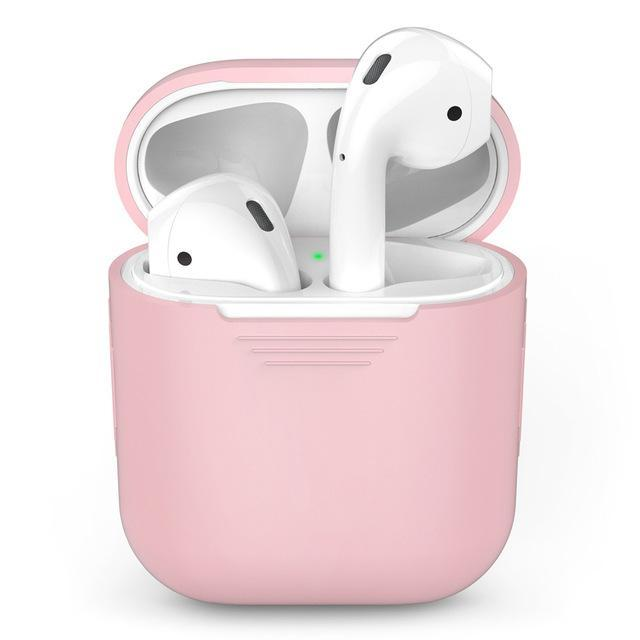 Silicone Apple Airpod Case Protective Cover Accessories Charging Box Tech Accessories Gadget Monkey Pink