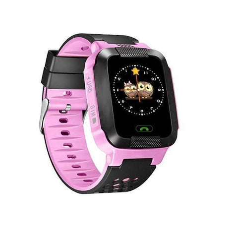 Kids GPS Tracker Smart Watch With Camera Jewelry & Watches Gadget Monkey Pink