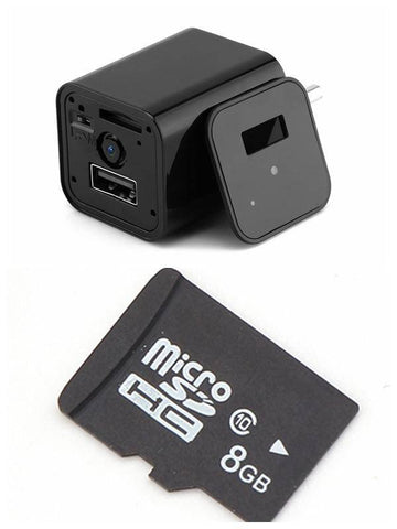 Image of HD 1080P USB Wall Charger Video Camera - US Version Tech Accessories Gadget Monkey US Plug 8 GB