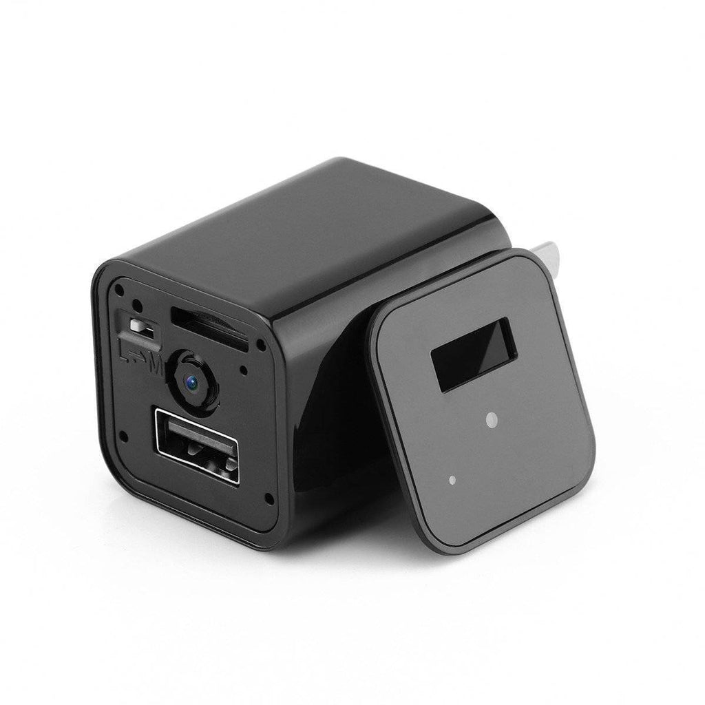 HD 1080P USB Wall Charger Video Camera - US Version Tech Accessories Gadget Monkey US Plug No Memory Card