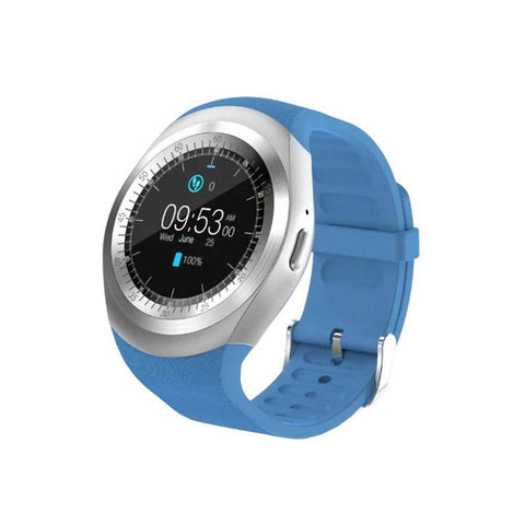 Image of Bluetooth Touch Screen Smart Watch for iOS and Android Jewelry & Watches shopgadgetmonkey Sky-blue