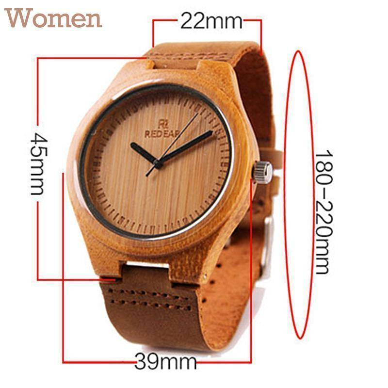 Wooden Womens and Mens Watch With Leather Band Jewelry & Watches Gadget Monkey Women Light
