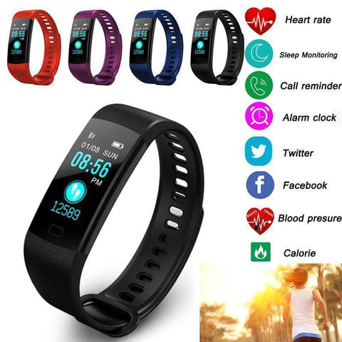 Bluetooth Smart Bracelet for Android IOS Sleep Monitoring Color Bracelet OLED IP65 Stopwatch Blood Pressure Health & Beauty Gadget Monkey