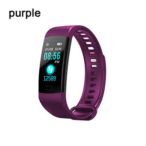 Bluetooth Smart Bracelet for Android IOS Sleep Monitoring Color Bracelet OLED IP65 Stopwatch Blood Pressure Health & Beauty Gadget Monkey purple