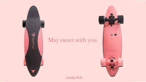 Image of Maxfind Max C Penny Electric Skateboard With Wireless Remote Tech Accessories Gadget Monkey Cindy pink