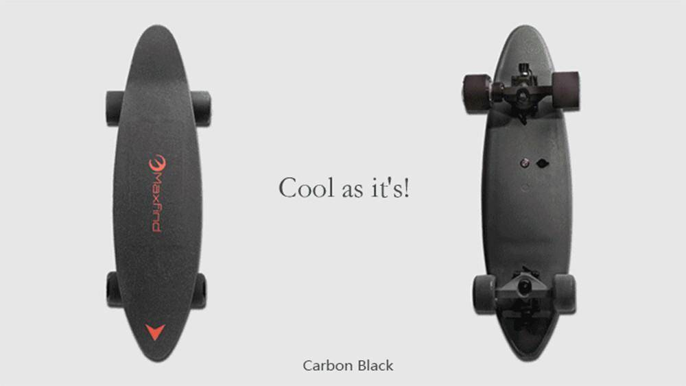 Maxfind Max C Penny Electric Skateboard With Wireless Remote Tech Accessories Gadget Monkey Carbon black