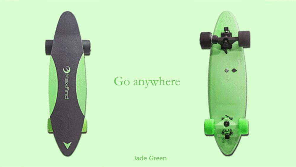 Maxfind Max C Penny Electric Skateboard With Wireless Remote Tech Accessories Gadget Monkey Jade green