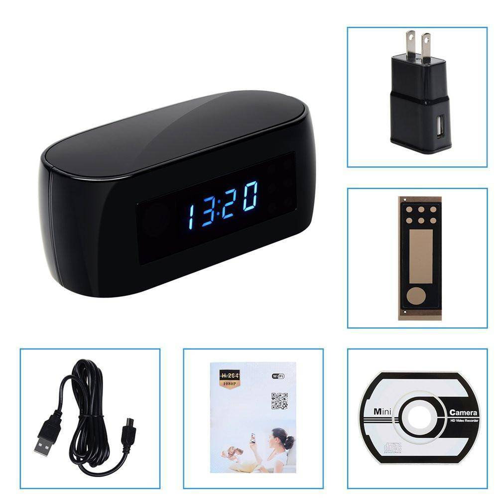 Ultra Wide Angle Hidden Camera Alarm Clock | Night Vision and Motion Detection Tech Accessories Gadget Monkey Default Title