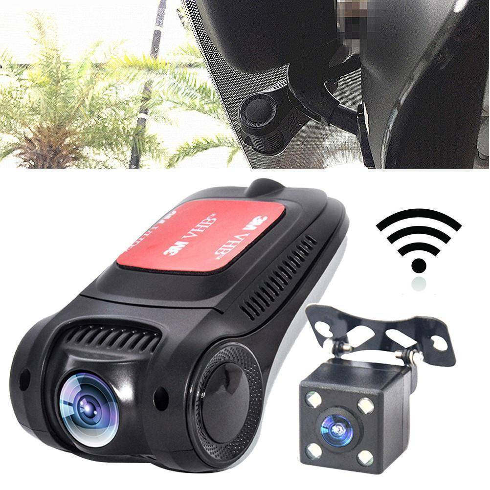 WiFi HD 1080P Dash Cam DVR Novatek NT96655 Sony IMX322 Car Rear Camera 170 Degree Wide Angle Dual Lens Car Video Recorder G-sensor Night Vision Motion Detection Loop Recording Tech Accessories Gadget Monkey