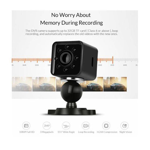 Mini WiFi HD 1080P Car DVR Camera Night Vision Sport Camera Tech Accessories Gadget Monkey