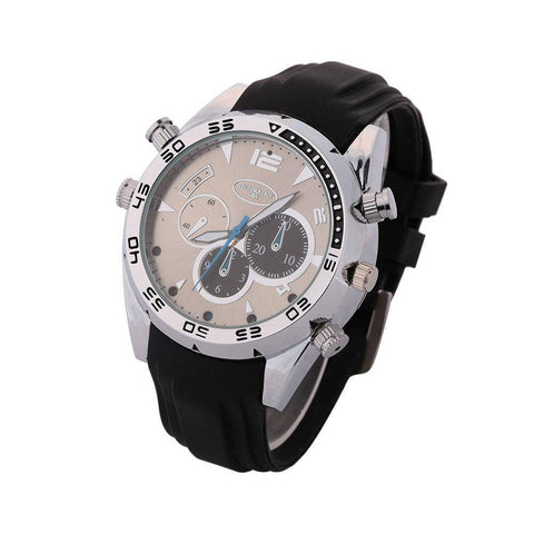 Image of Wrist Watch With Hidden HD Video Camera 1080P Waterproof 8GB IR Night Vision Tech Accessories shopgadgetmonkey