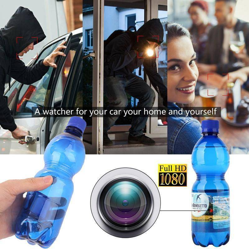 Hidden Video Camera Water Bottle Motion Detection 1080p HD Tech Accessories shopgadgetmonkey