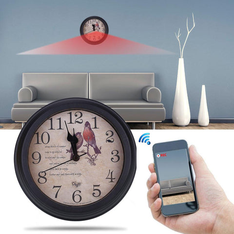 Image of Wifi Clock with Video Camera Tech Accessories Gadget Monkey Default Title