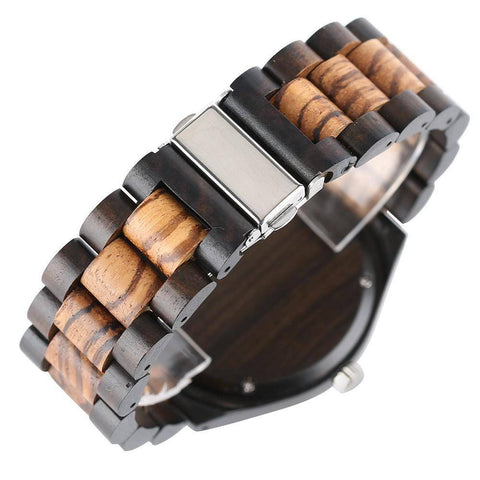 Image of Bamboo Wooden Watch - Natural Wood Bracelet, Quartz Jewelry & Watches Gadget Monkey