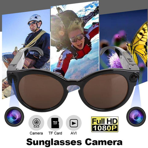 Sunglasses with Video Camera and Motion Detection Tech Accessories Gadget Monkey