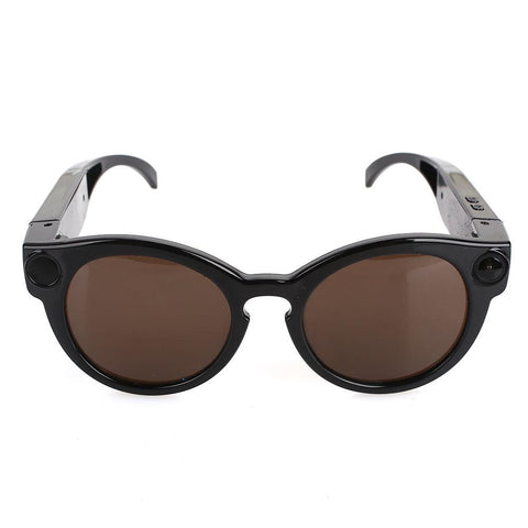 Image of Sunglasses with Video Camera and Motion Detection Tech Accessories Gadget Monkey Black