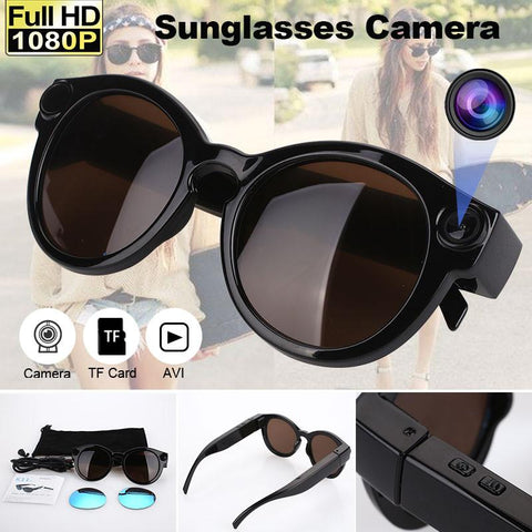 Image of Sunglasses with Video Camera and Motion Detection Tech Accessories Gadget Monkey